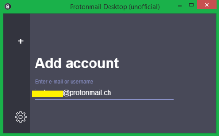 ProtonMail desktop add account