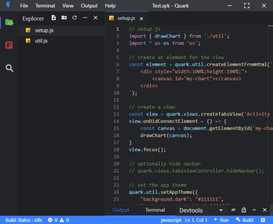 Quark code editor