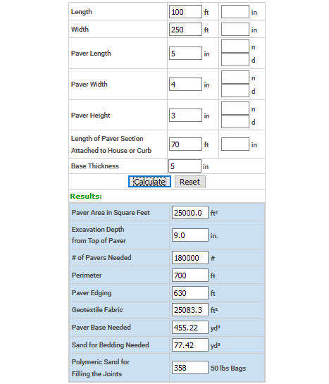 3 Online Paver Calculator Free Websites