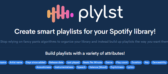 Spotify Playlist Creator to Create always updated dynamic