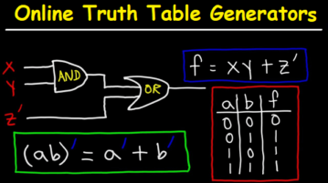 Truth Table Generators Online Free