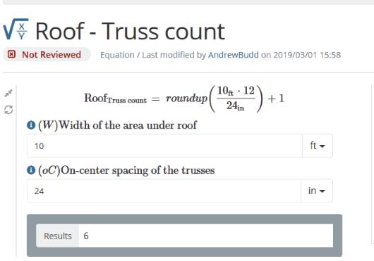 Vcalc.com- truss count