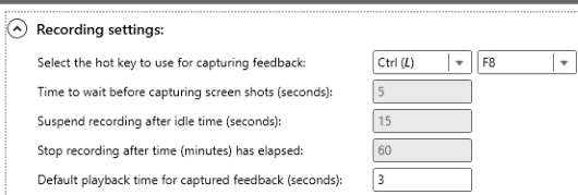 adjust recording settings