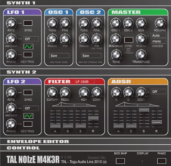 audio_synthesizer_software-03-TAL-NoiseMaker