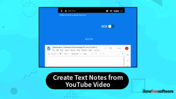 autmomatically create text notes from youtube video