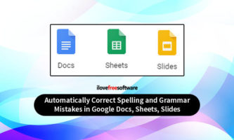 Autocorrect for Google Docs, Sheets, Slides to Correct Spelling Mistakes