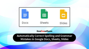 autocorrect for google docs sheets and slides