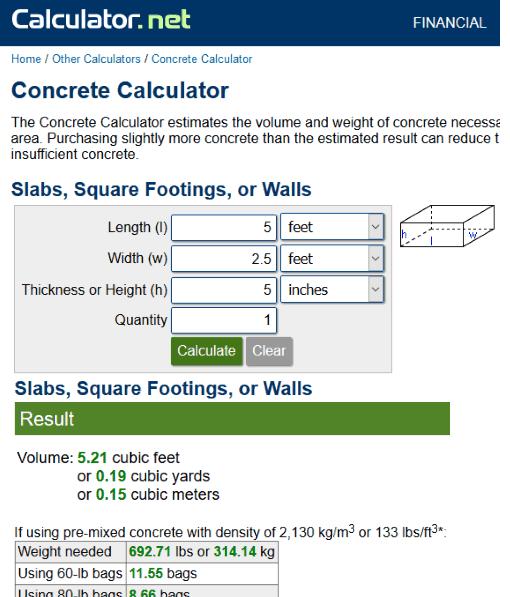 calculator.net website
