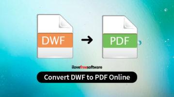 convert dwf to pdf online