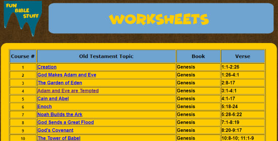 download bible activities