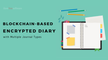 Free Blockchain-based Encrypted Diary with Multiple Journal Types