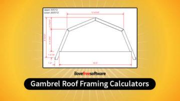 gambrel roof framing calculators
