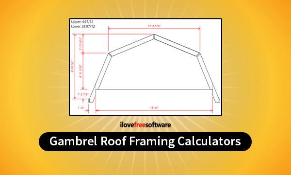 4 Online Gambrel Roof Framing Calculator Free Websites