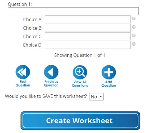 generate printable quiz online