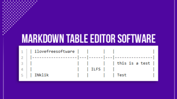 markdown table editor software