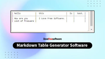 markdown table generator software