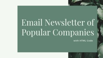 Find Newsletters of Popular Companies with HTML Code
