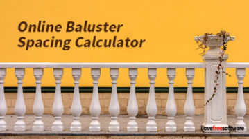online baluster calculator websites