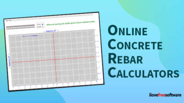 online concrete rebar calculators