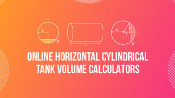 online horizontal cylindrical tank volume calculators