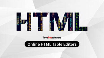 online html table editors