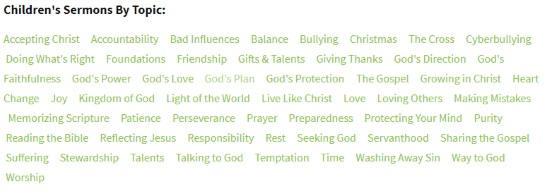 online sermons for kids