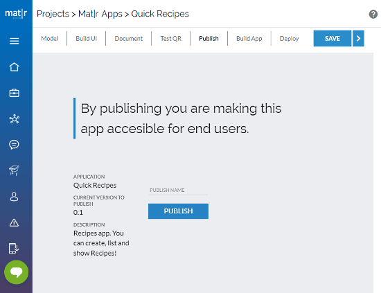 open source app development tool for Android iOS-05-Publish