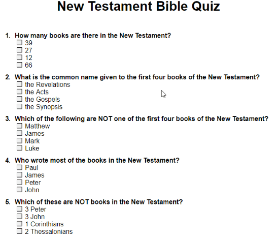 This is an image of Effortless Printable Bible Quiz Multiple Choice
