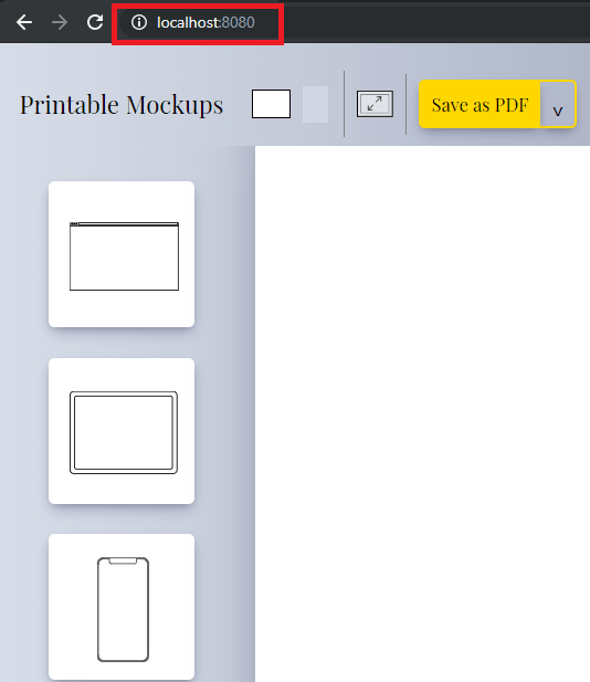 printable mockups interface