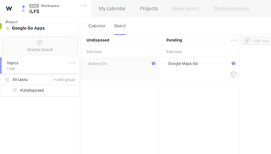 project management with personal time management - boards