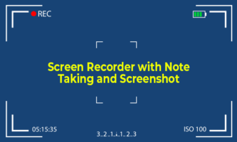 Free Screen Recorder To Take Notes, Screenshots During Recording