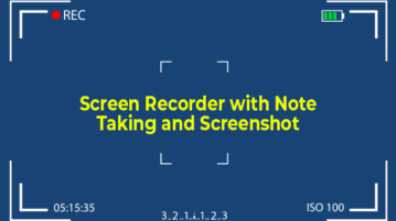 screen recorder with note taking and screenshot capture