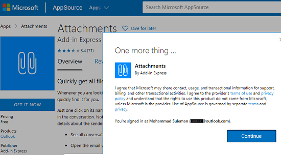 Add Attachments addin to Outlook