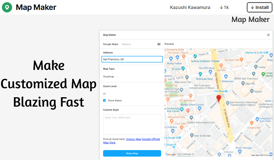 Add Maps in Figma Designs with free Figma Map Maker Plugin