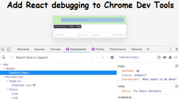 Add React debugging to Chrome Dev Tools