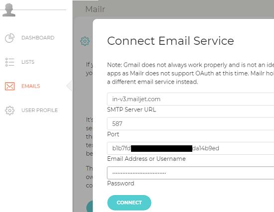 Add SMTP Server Mailr