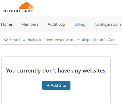 Add a domain CloudFlare