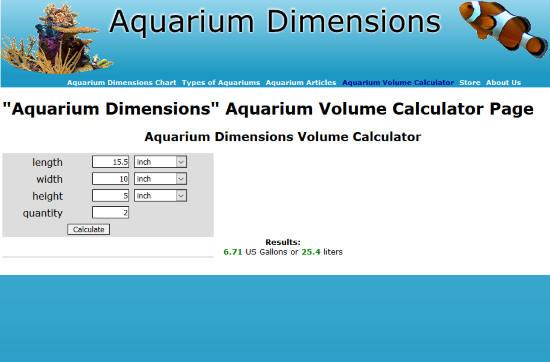 Aquarium Dimensions
