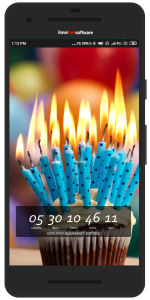 Birthday countdown Android app