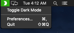 Enable Mac OS Dark Mode in 1 click