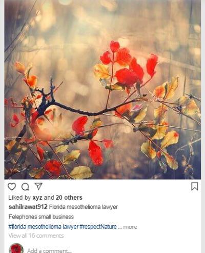 Fake Instagram post simulator