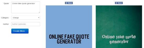 Fake quote generator