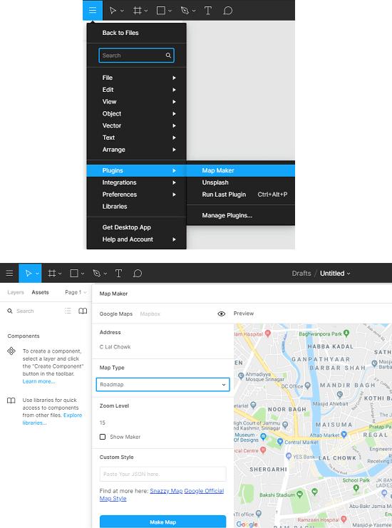 Figma Maps Maker Interface