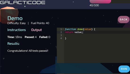 GalactiCode Code Editor