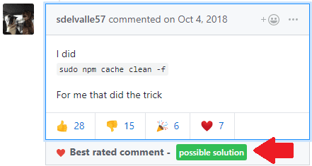 How to Find Best Solution to an Issue on GitHub based on Reactions