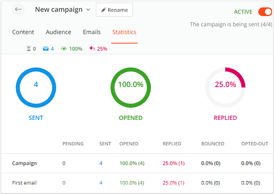 Hunter Campaigns to Send cold email campaigns using your Google account