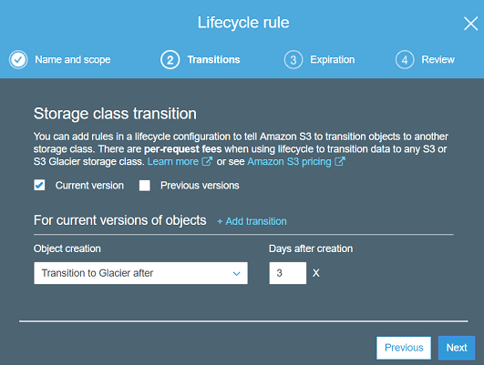 Lifecycle rule save