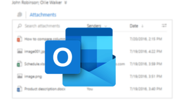 List all Attachments from an Email Conversations on Outlook