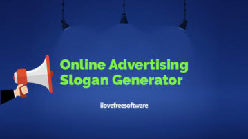 Online Advertising Slogan Generator