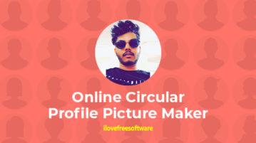 Online Circular Profile Picture Maker
